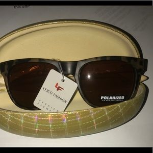 NWT LV Polarized sunglasses Wood new fashion